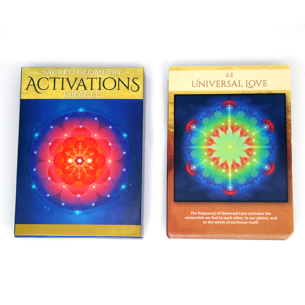 44 Cards Deck Activations Oracle Sacred Geometry Discover The Language Of Your Soul Set For Beginners Journal