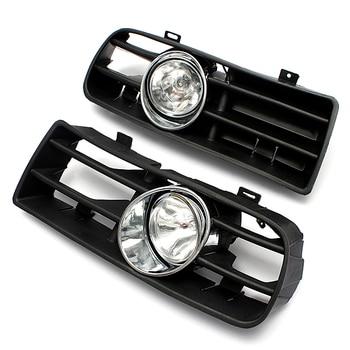 Hot 2Pcs FRONT LEFT RIGHT FOG LIGHT LAMP GRILLE GRILL SET for VW GOLF MK4 IV 1998-2005