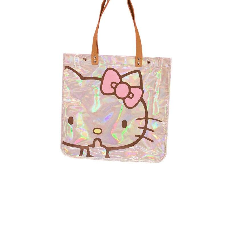 Femmes sac à main Kitty chat éblouissement Laser épaule sac à main imperméable à l'eau grands sacs de créateurs femmes en cuir PU sacs à main et sacs à main de mode - 5