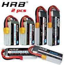 2 единицы HRB RC Lipo батарея 3S 11,1 v 1300mah 1500mah 2200mah 2600mah 3000mah 45c 60c 90c deans Разъем для rc дронов Airplne автомобилей