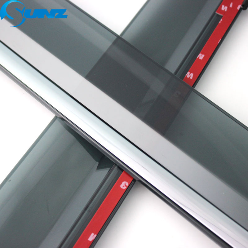 Image 2 - Side window deflectors For CITROEN C2 2006 2018  Car door visor protector car rain guard accessories  Car Styling  SUNZ-in Awnings & Shelters from Automobiles & Motorcycles