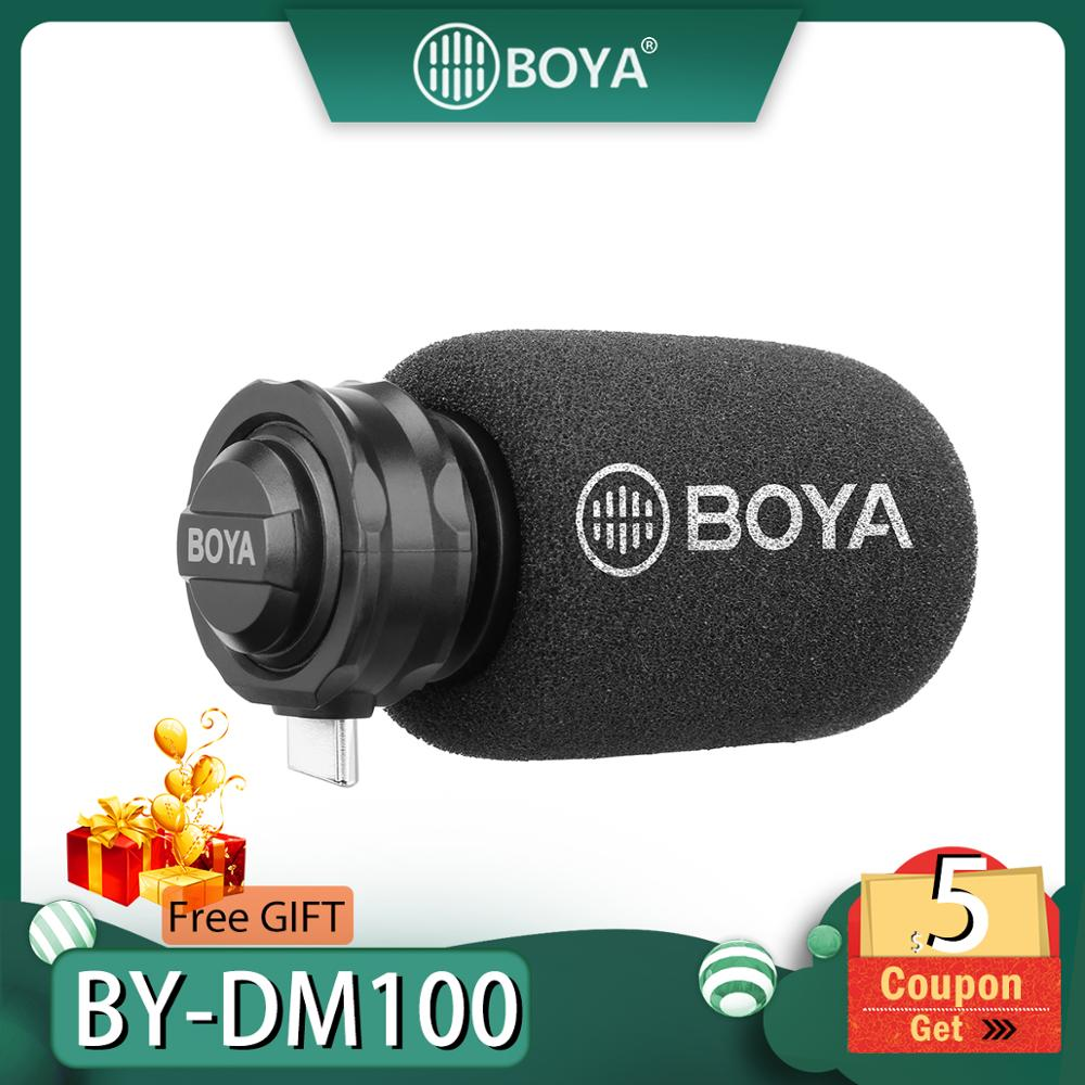 BOYA BY-DM100 MIC Digital Stereo Phone Microphone Condenser Android Record Microphone Type-C Port for Recording Interview USB