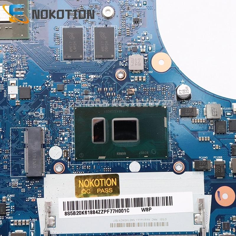 NOKOTION BMWD1 NM-A491 Main Board For Lenovo 300-17ISK Laptop Motherboard I5-6200U CPU R5 M330 GPU full test