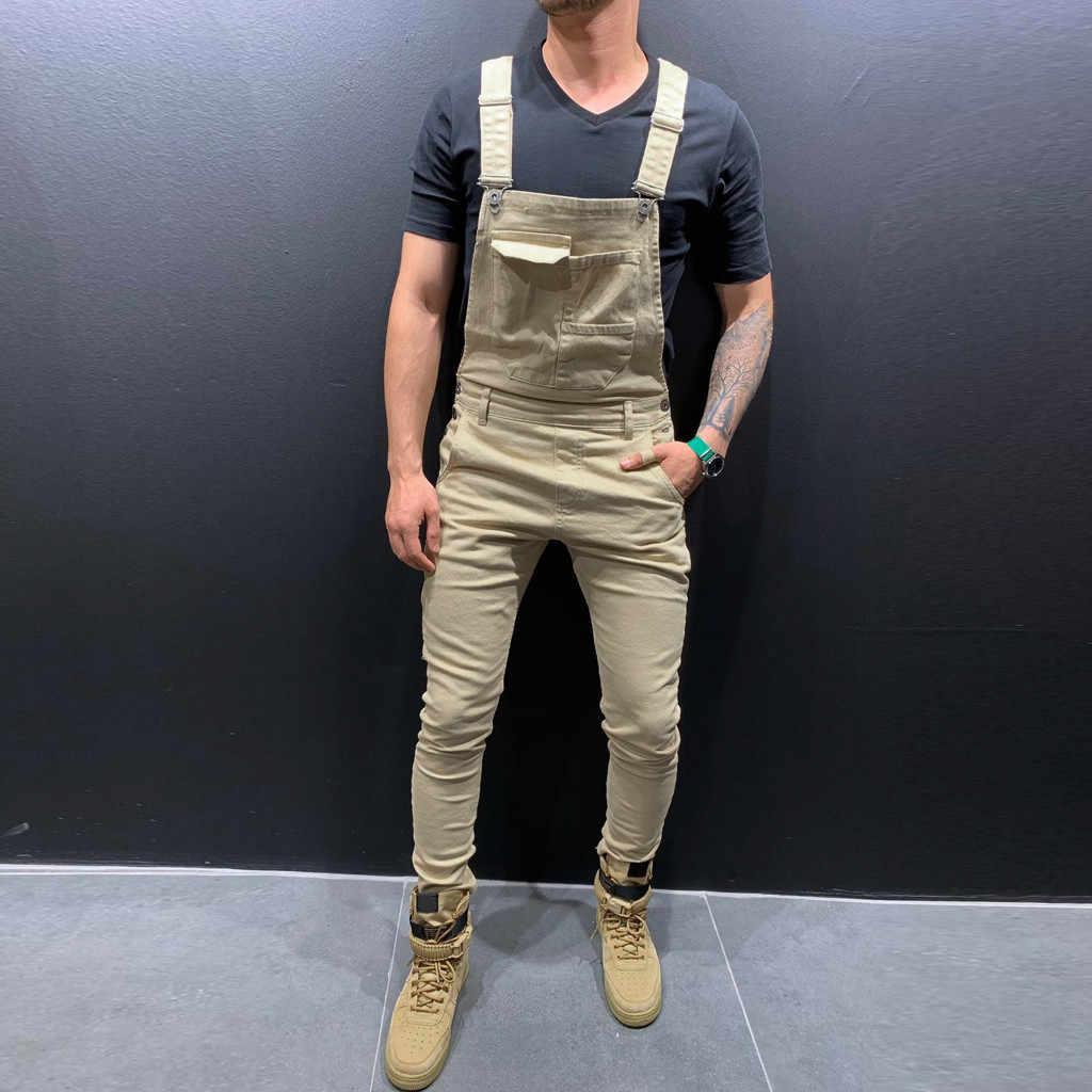 2020 mężczyzn kombinezon dresowy kombinezony dorywczo spodnie luźne spodnie spodnie na szelkach moda męska Hip Hop kombinezon spodnie na szelkach Plus rozmiar