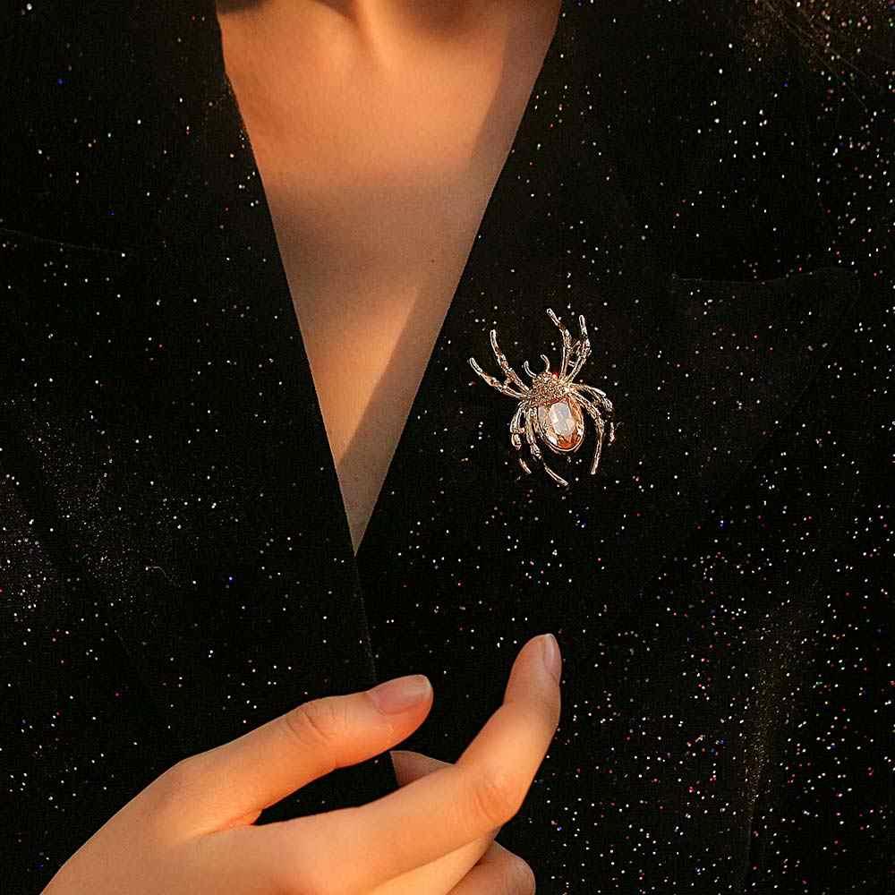 Viennois Spider Spilla Per Le Donne Zircone Classico Della Decorazione Del Rhinestone Spilli del Regalo di Inverno 2019