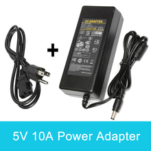 цена на 5V 10A Universal Power Adapter 100-240V AC to DC Supply Switching Charger US EU Plug 50W 5.5mm x 2.5mm for Switch LED Strip Lamp