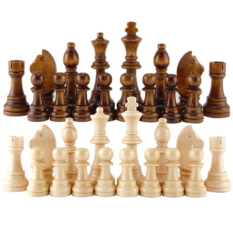 2020 New Arrival Wooden Chess Pieces Hot Sale 55-91Mm Height Entertainment Games 12Pc/Set