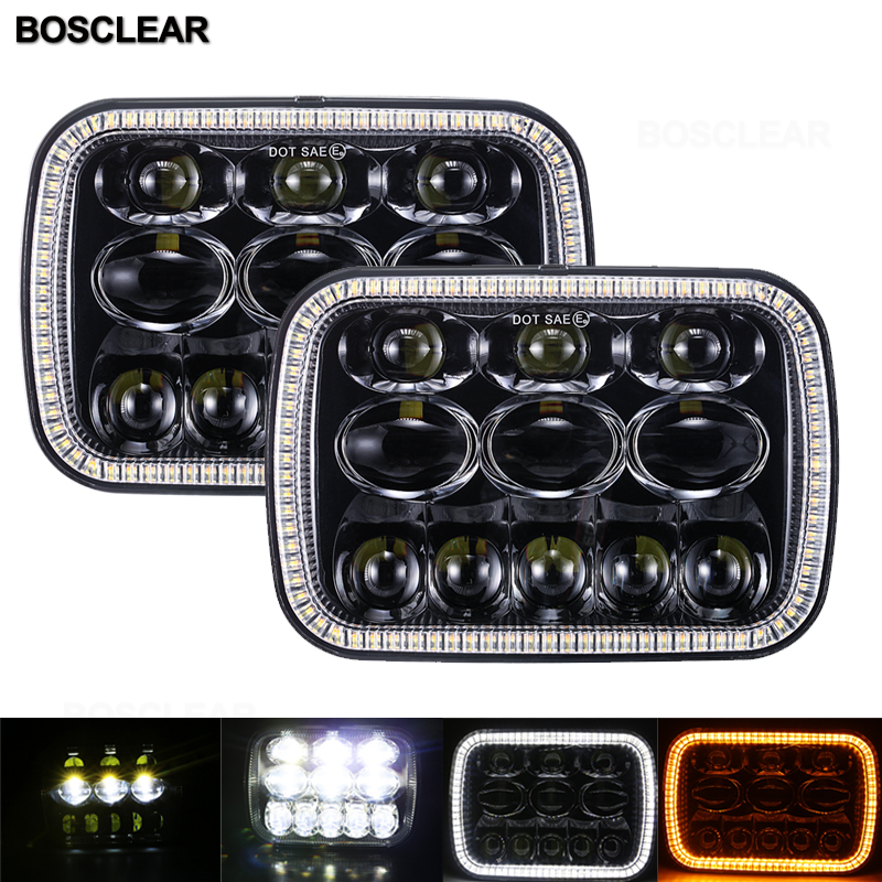 LED <font><b>Headlight</b></font> for Jeep GMC Savana Safari Ford Club Wagon E-350 Econoline For Chevrolet Express 3500 1500 Astro for Nissan <font><b>240SX</b></font> image