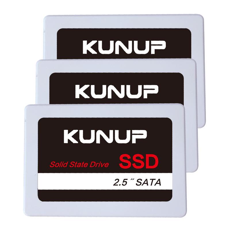 KUNUP SSD Cheap 240GB 120GB 256GB 2TB Factory wholesale Internal SATA3 2.5 inch OEM Solid State Drive 1T 64 128 512GB white