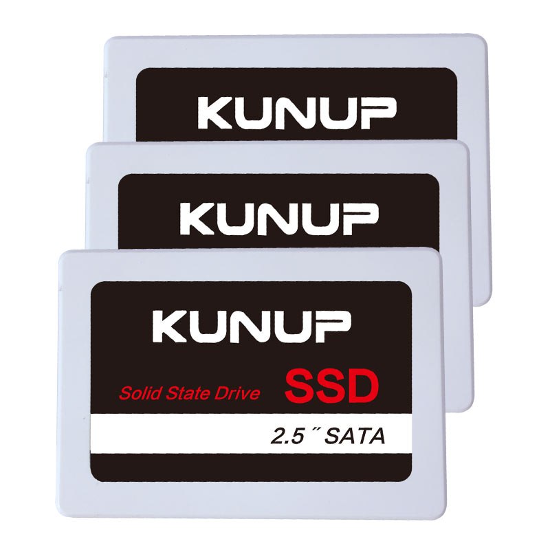 KUNUP <font><b>SSD</b></font> Cheap 240GB 120GB 256GB 2TB Factory wholesale Internal SATA3 2.5 inch OEM Solid State Drive 1T 64 128 512GB white image