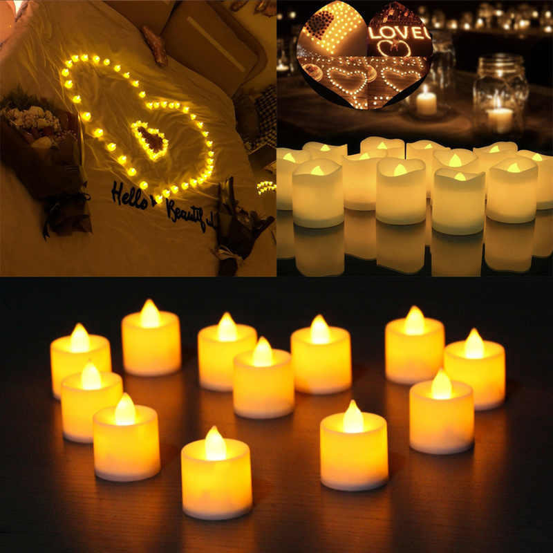 1 PC Creative LED Candle Multicolor Lamp Simulation Color Flame Tea Light Home Wedding Birthday Decoration Drop Shipping