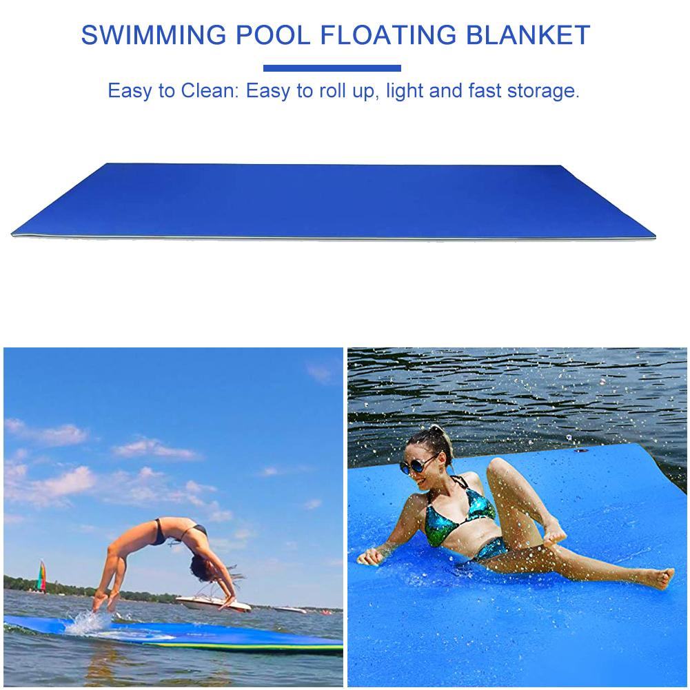 New 2/3 Layer Anti-tear XPE Foam Floating Pad Durable For Water Entertainment Swimming Pool Picnic Float
