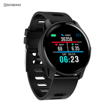 SENBONO pulsera inteligente S08 para IOS, reloj deportivo resistente al agua con control del ritmo cardíaco, pantalla IPS y presión sanguínea para exteriores, IP68