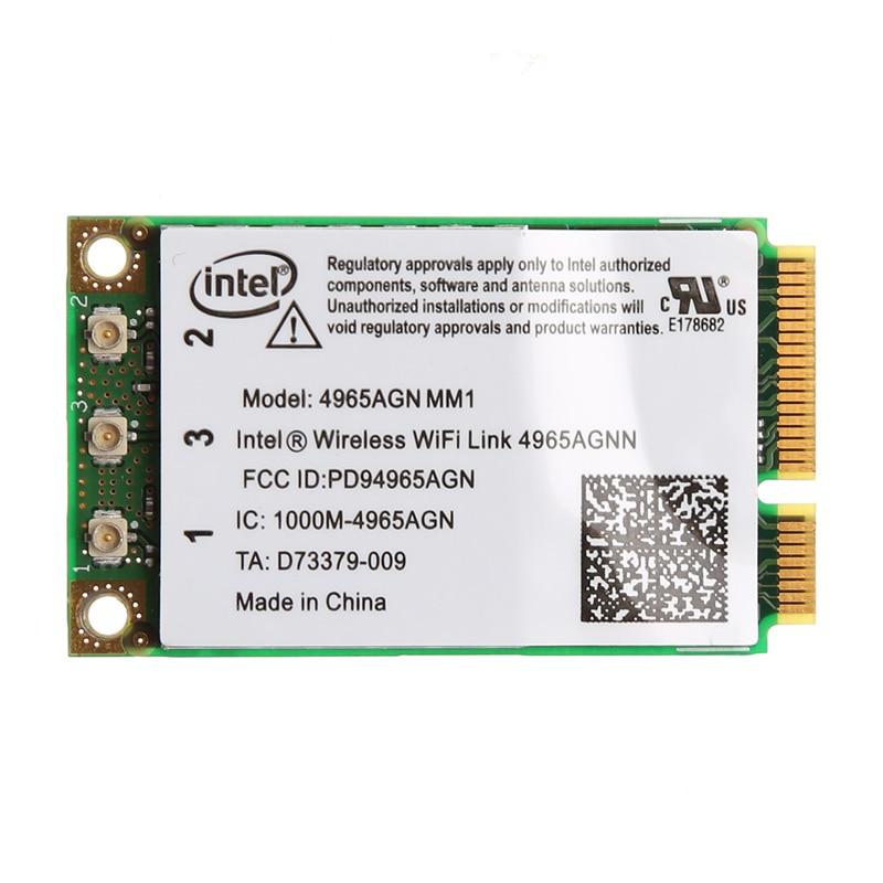 Dual Band 300Mbps WiFi Link Mini PCI-E Wireless Card For Intel 4965AGN NM1