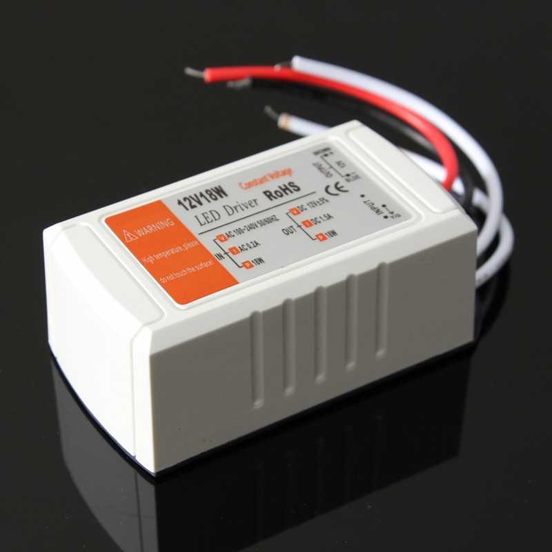 1 pièces 12V 1.5A 18W alimentation AC/DC adaptateur transformateur commutateur pour bande de LED plafond ampoule LED Support de pilote livraison directe