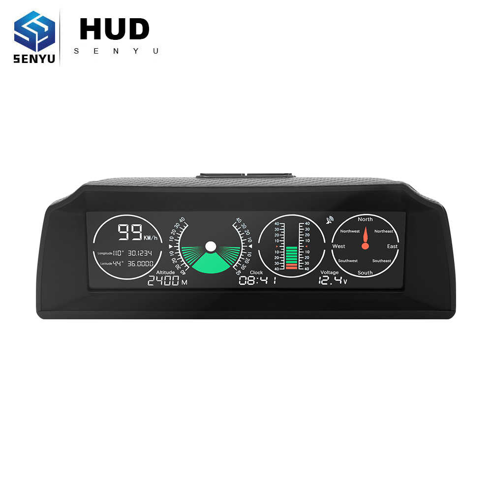 Hud head up display para toda a eletrônica do carro gps velocímetro projetor digital hud obd obd2 ferramenta de diagnóstico on-board computador