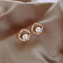 Модные красивые жемчужные серьги аксессуары уникальные металлические