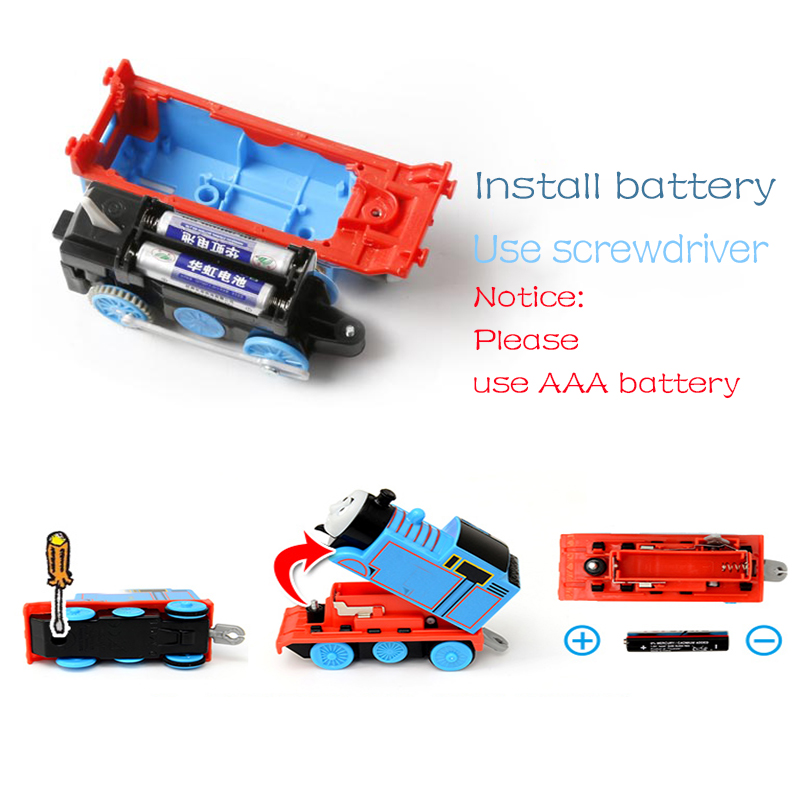 Original Electronal Thomas and Friends Electric Track Master 1 43 Trains Motor Metal Model Car Use Battery Material Kids Toys in Diecasts Toy Vehicles from Toys Hobbies
