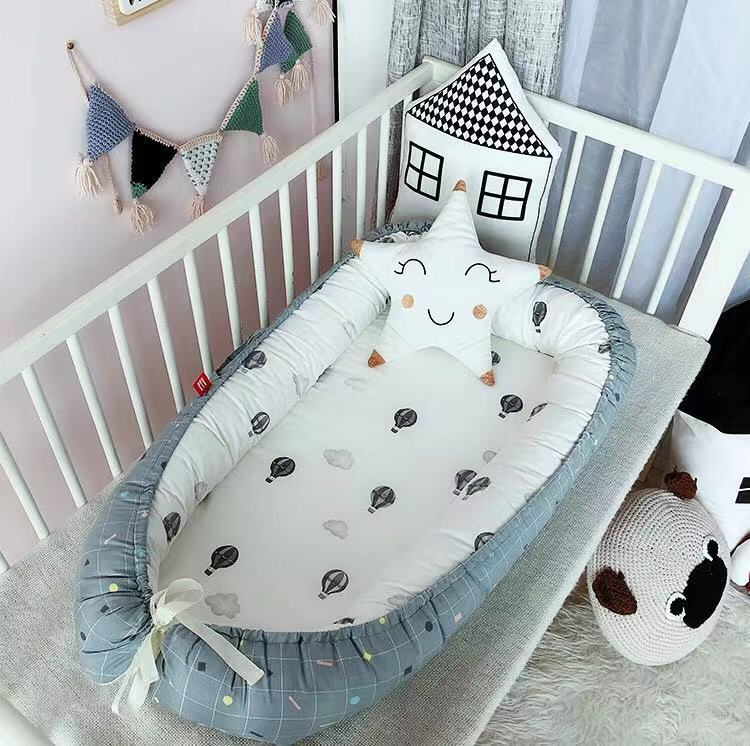 Conventible Baby Bedding Cribs Sets Boys Girls Infant And Toddler Lounger Travelling Baby Bassinet 55*90cm