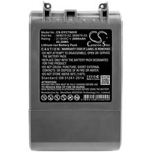 Cameron Sino 2000mAh Battery For Dyson SV11,V7,V7 Motorhead Pro,V7 Motorhead vacuum,V7 Total Clean,V7 Trigger,968670-02 printio motorhead