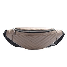 stripe Waist Bag Leather Fanny Pack For Women Waist Bag Brand Chest Bags Waterproof Antitheft Ladies Walking Belts Bag Mermaid(China)
