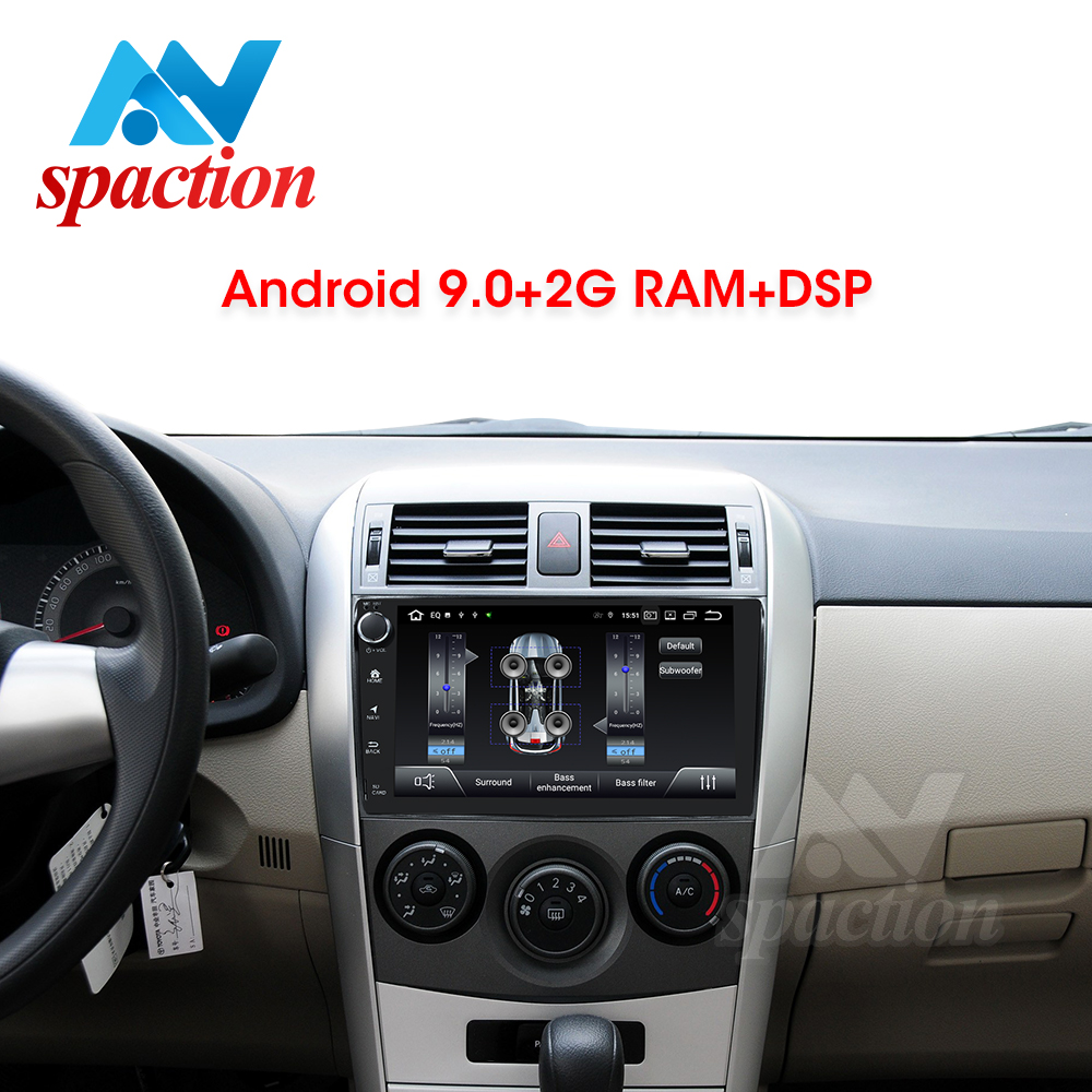 Anspaction Android 9.0 car dvd for <font><b>Toyota</b></font> <font><b>corolla</b></font> <font><b>E140</b></font> <font><b>E150</b></font> 2007 2008 2009 2010 2011 2012 car radio stereo gps navigation video image