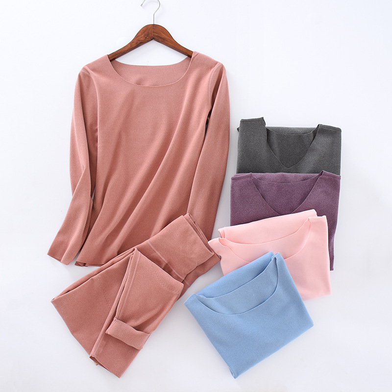 2020 New  Thermal Underwear Set Warm Clothes Women In Winter Long John Sets 1681