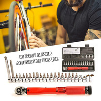 20/25pcs Bicycle Repair Adjustable Torque Wrench Reversible Click Type Torque Wrench TN88