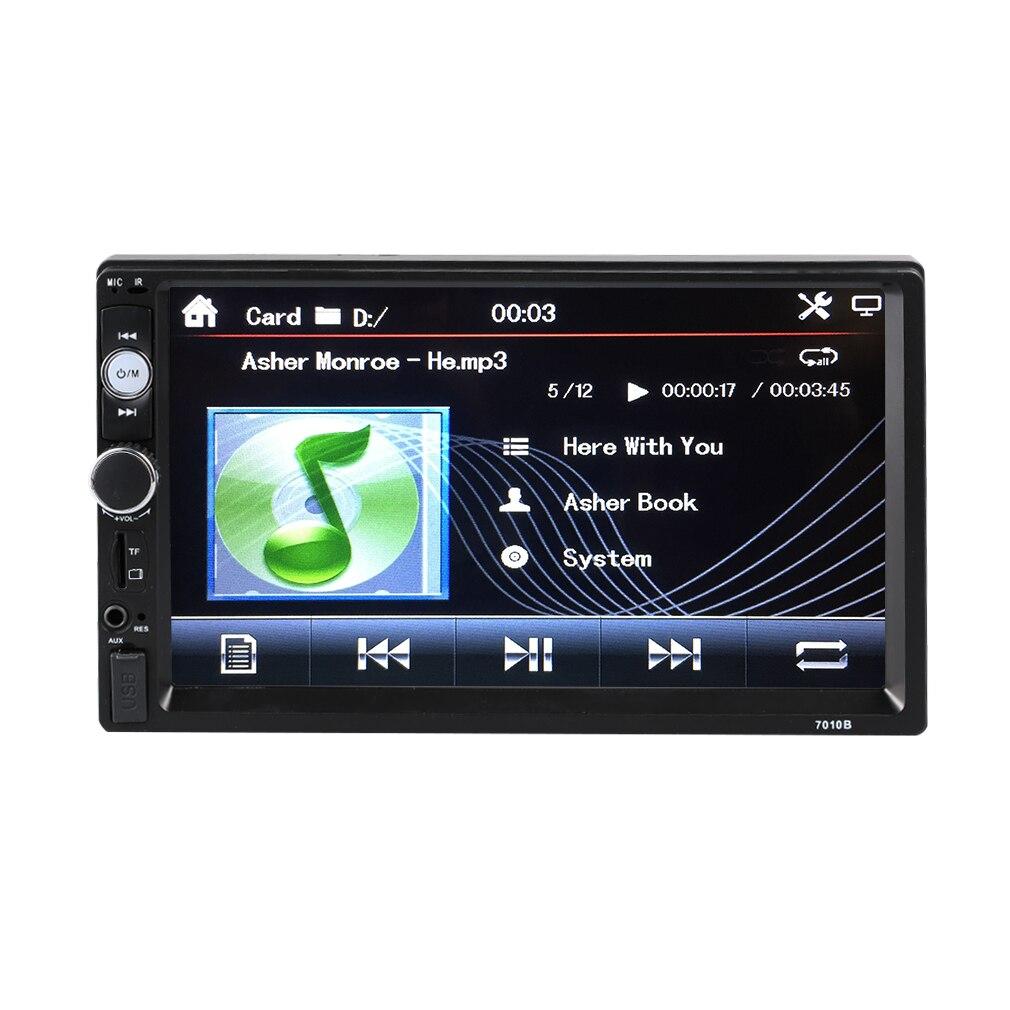 Профессиональный 7010B 7 дюймов Большой ЖК-экран дисплей Авто Vechicle FM/MP5 плеер реверсивная автомобильная камера