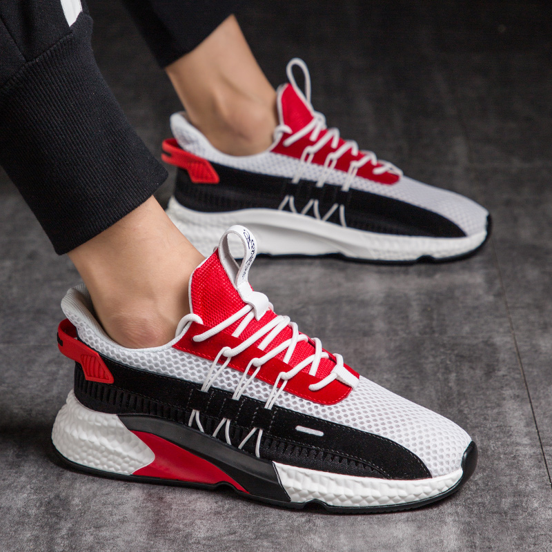 2020 New Mesh Men's Sneakers Casual Sneakers Men's Shoes Lightweight Comfortable Breathable Walking Sneakers Zapatillas Hombre