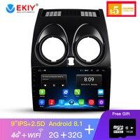 EKIY 9' IPS Car Multimedia Video Player Media GPS Navigation Android 8.1 No 2 Din Auto Car Radio For Nissan Qashqai 2006 2013
