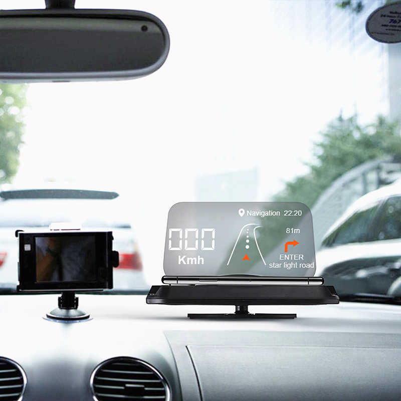 Car Windscreen Projector HUD Head Up Display Universal Mobile Phone Holder Multifunction 6.5 Inch For iPhone 11 For Samsung GPS