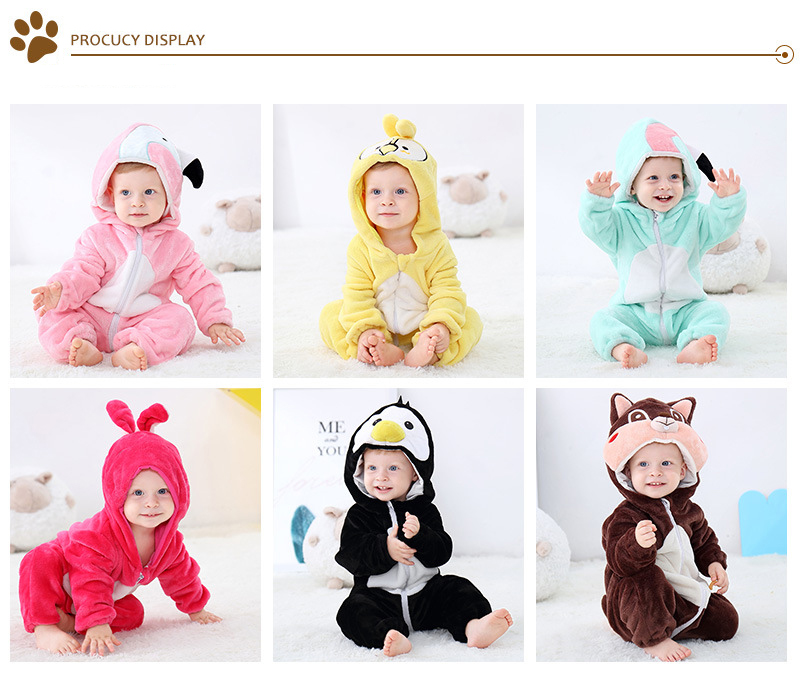 H559f80679e0f45cbbf5e0e33ed2a7071J 2019 Infant Romper Baby Boys Girls Jumpsuit New born Bebe Clothing Hooded Toddler Baby Clothes Cute Panda Romper Baby Costumes