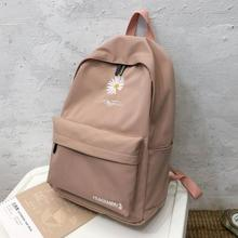 Teen School Bag for Girls Backpack Women Printing Bookbags Middle Student Schoolbag Large Black Cute Flowers Nylon Bagpack