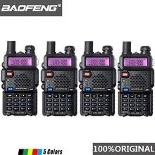 4 قطعة Baofeng UV 5R لاسلكي تخاطب ثنائي النطاق المهنية 5 واط UV 5R اتجاهين راديو Comunicador UV5R هام HF جهاز الإرسال والاستقبال محطة الراديو