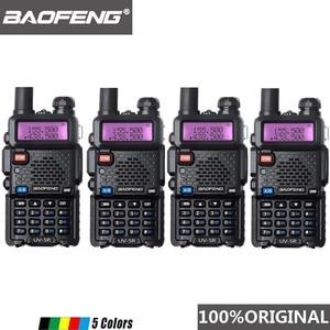 Image 1 - 4 Stuks Baofeng UV 5R Walkie Talkie Dual Band Professionele 5W Uv 5R Twee Manier Radio Comunicador UV5R Ham Hf transceiver Radio Station