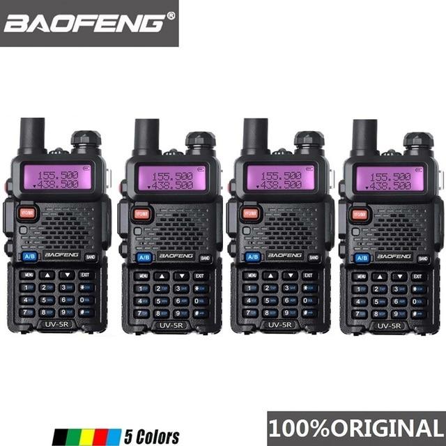 4 Stuks Baofeng UV 5R Walkie Talkie Dual Band Professionele 5W Uv 5R Twee Manier Radio Comunicador UV5R Ham Hf transceiver Radio Station