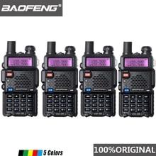4pcs Baofeng UV 5R ווקי טוקי Dual Band מקצועי 5W UV 5R שתי דרך רדיו Comunicador UV5R חם HF משדר תחנת רדיו