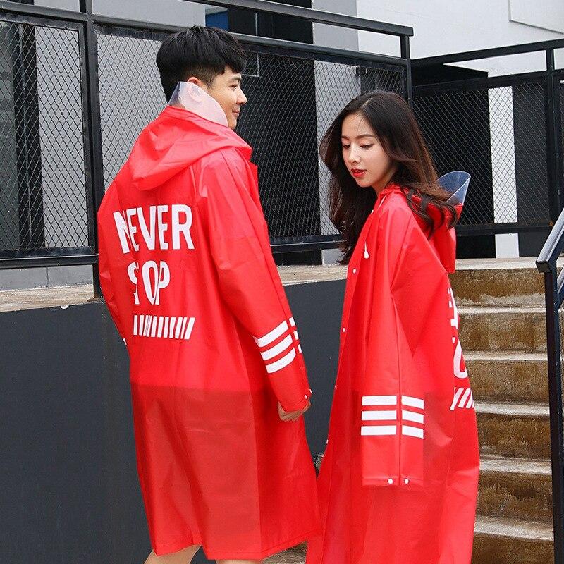 Lovers Raincoat Fashion Couple Transparent Women Rainwear EVA Men Raincoats Rain Coat Adult Hiking Rain Poncho For Climbing