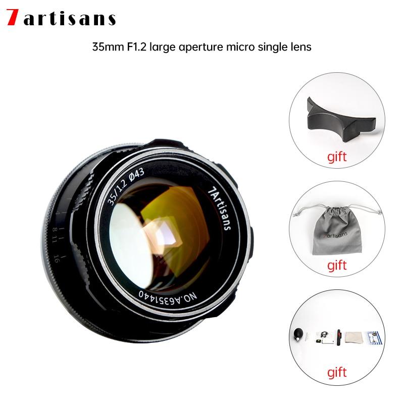 7artisans 35 мм F1.2 объектив с фиксированным фокусным расстоянием для объектива Sony E/Nikon Z/для цифровой фотокамеры Fuji XF APS-C Камера ручной беззеркаль...