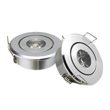 GD 10 sztuk Mini Spot 3W ściemniania LED oprawa wpuszczana AC85 265V COB oświetlenie sufitowe led punktowe osadzone spot reflektory led + sterownik
