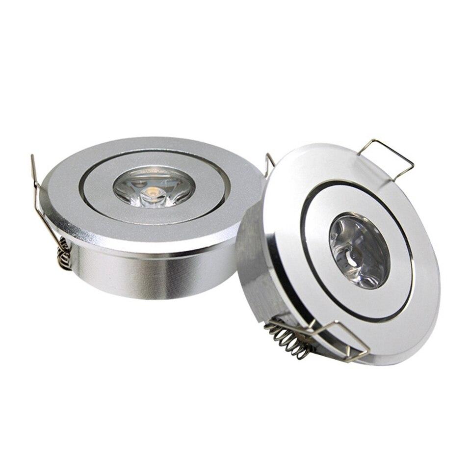 GD 10pcs Mini Spot 3W Dimmable LED Recessed Downlight AC85-265V COB LED Ceiling Spot Light Embedded Spot LED Spotlight + Driver