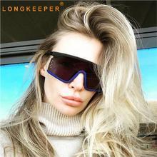 Vintage Big Square Sunglasses Women Brand Designer Luxury Ov