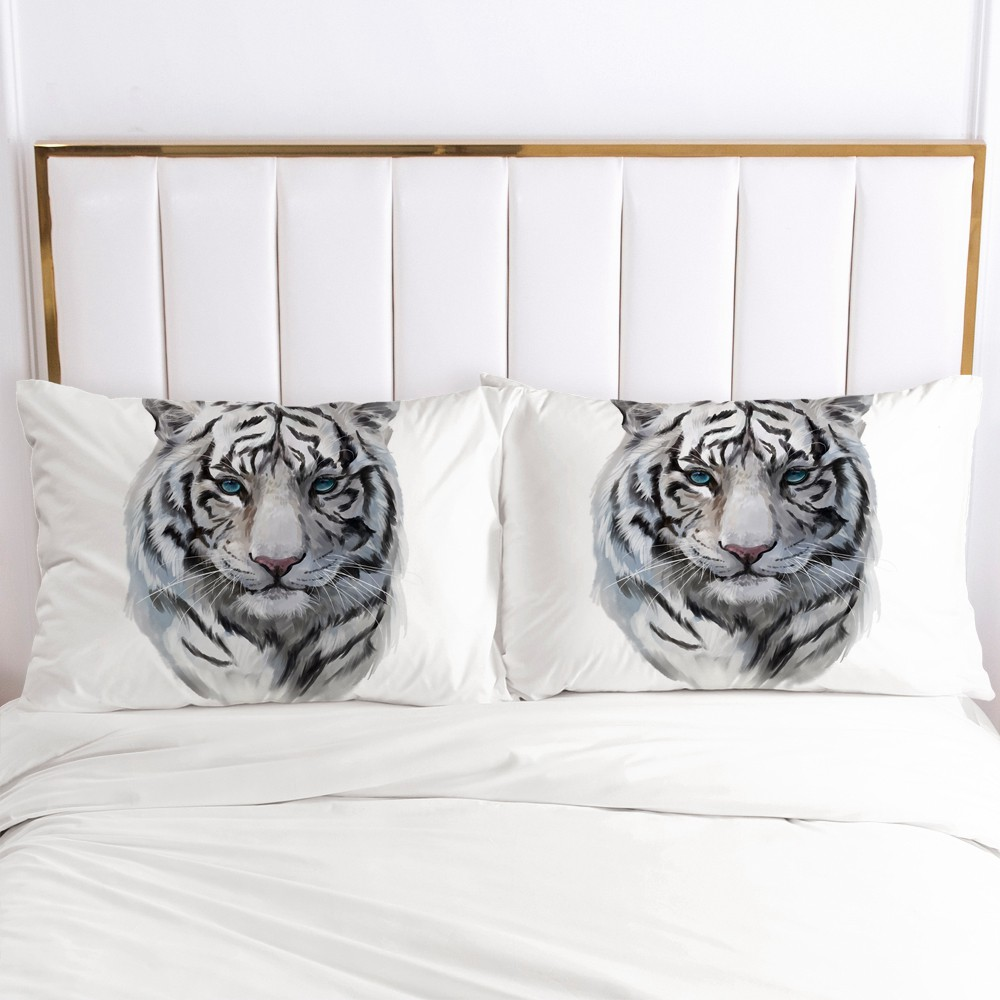 3D Printed Pillowcases Pillow Case Soft Home Chair Decorative Pillow Covers Cover 50x80cm 51*91cm 50*75 Animal Tiger Design