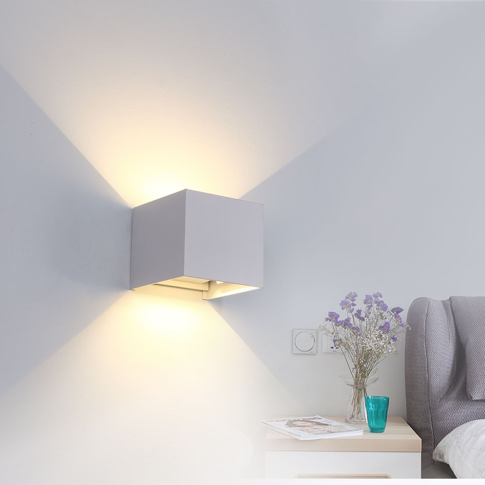 IP65 6W 10W 12W LED Outdoor Waterproof Wall Lamp Adjustable Garden Aisle Light Indoor Stairs Corridor Bedroom Artistic Wall Lamp