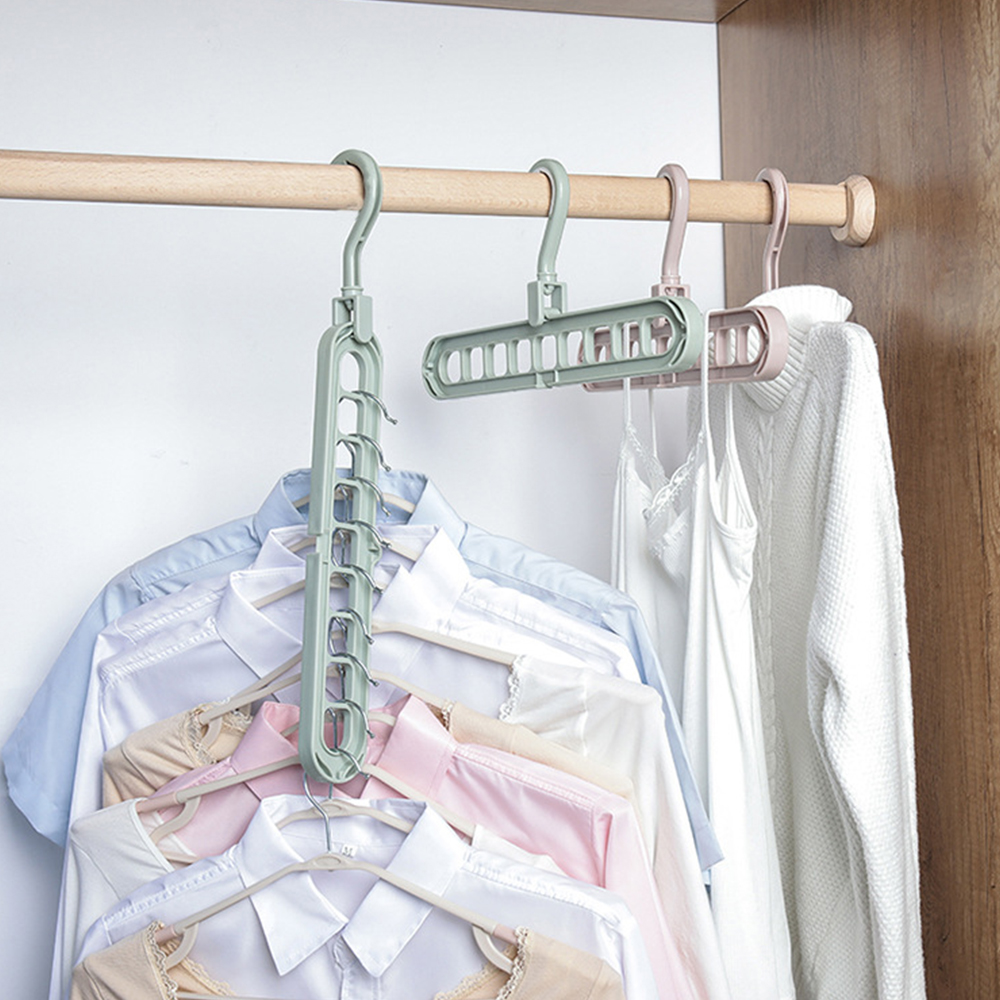 1Pc Home Storage Space Saving Hanger Clothes Hanger Hook Bathroom Tools  Wardrobe Holders Multifunction Closet Hook Storage Tool