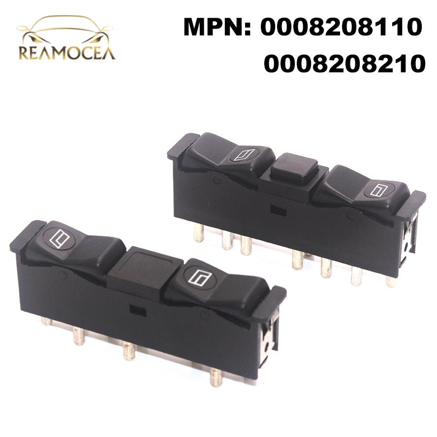 Reamocea 1Pair 0008208210 0008208110 Car <font><b>Interior</b></font> Door Electric Power Window Switch fit for <font><b>Mercedes</b></font> Benz <font><b>W201</b></font> W123 W126 C126 image