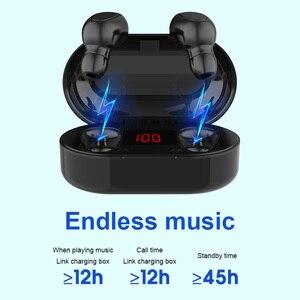 Image 4 - מיני TWS אלחוטי אוזניות ספורט HIFI אוזניות רעש ביטול אוזניות אלחוטי אוזניות מים הוכחת אוזניות
