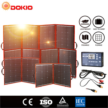 Dokio Flexible Foldable Solar Panel High Efficience Travel & Phone & Boat Portable 12V 80w 100w 150w 200w 300w Solar Panel Kit 1