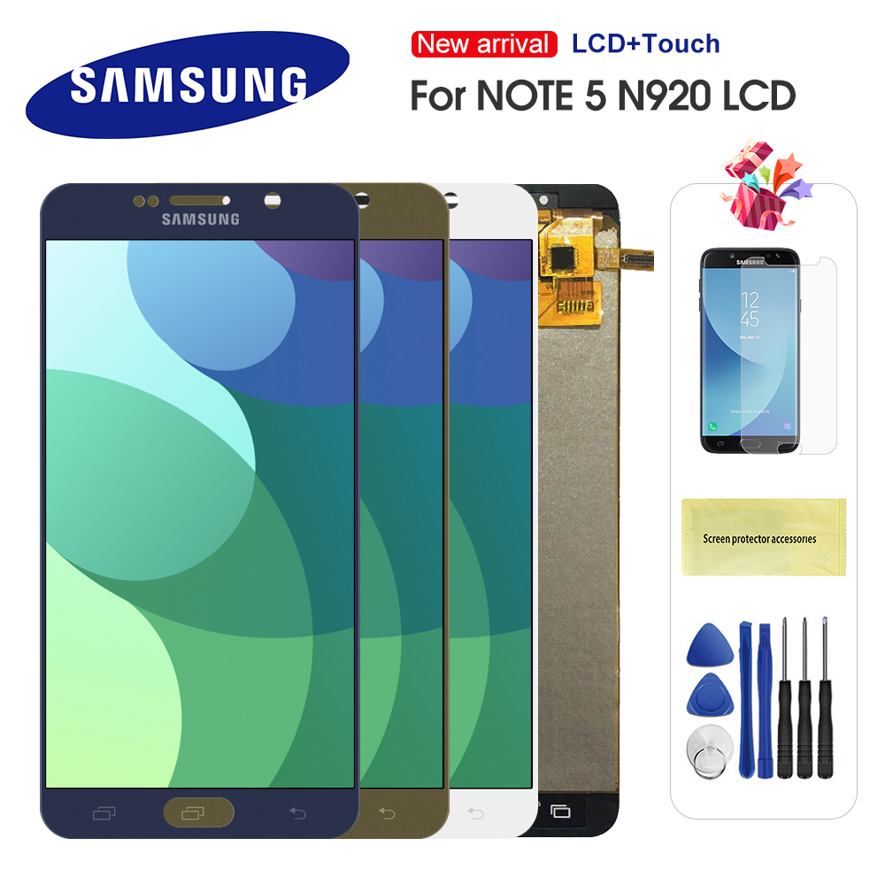 LCD For Samsung Galaxy Note 5 N920 N920F LCD Display Touch Screen Digitizer Assembly Replacement Parts For Note5 LCD Screen